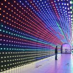 Lighting Tunel di Malang Night Paradise